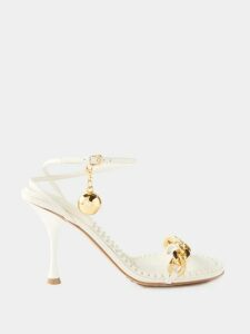 Miu Miu - Fair-isle Alpaca Sweater - Womens - Beige Multi