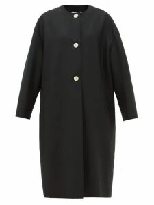 Harris Wharf London - Round-neck Felted Wool Coat - Womens - Black