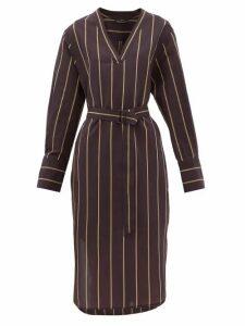 Joseph - Janis Striped Cotton-blend Tunic Dress - Womens - Black Multi