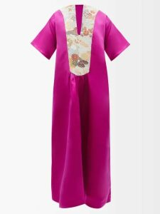 Miu Miu - Double-breasted Striped Cotton Jacket - Womens - Navy
