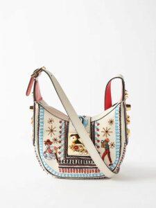 Miu Miu - Prince Of Wales-check Virgin Wool Coat - Womens - Beige Multi