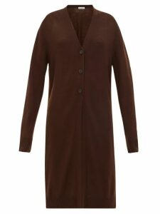 Jil Sander - Longline Wool Cardigan - Womens - Brown