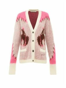 Golden Goose - Chloe Cowboy-intarsia Mohair-blend Cardigan - Womens - Ivory Multi