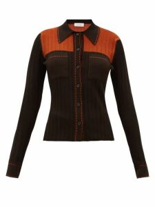 Wales Bonner - Knitted Shirt - Womens - Brown Multi