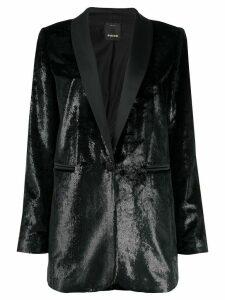 Pinko textured V-neck blazer - Black