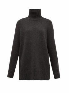 The Row - Sadel Roll-neck Cashmere Sweater - Womens - Dark Grey