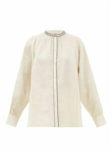 Weekend Max Mara - Terni Blouse - Womens - White Black