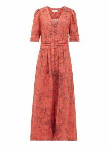 Sea - Mimi Floral-print Cotton Shirtdress - Womens - Red Print