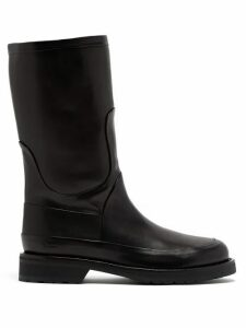 Ann Demeulemeester - Panelled Leather Boots - Womens - Black