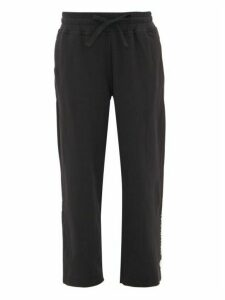 Adidas By Stella Mccartney - Cropped Stepped-hem Jersey Sweatpants - Womens - Black