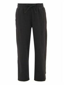 Adidas By Stella Mccartney - Cropped Stepped-hem Jersey Sweatpants - Womens - Black