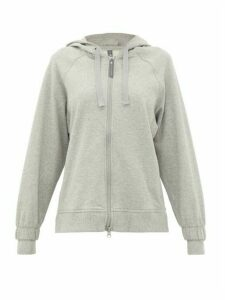Adidas By Stella Mccartney - Zip-through Jersey Hooded Sweatshirt - Womens - Light Grey