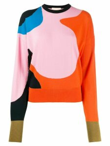Roksanda abstract print jumper - ORANGE