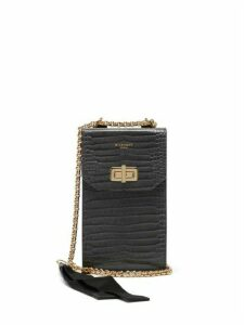 Givenchy - Catena Crocodile-effect Leather Phone Case - Womens - Grey