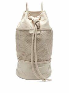 Adidas By Stella Mccartney - Gym Sack Canvas Shoulder Bag - Womens - Grey