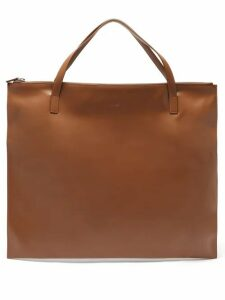Jil Sander - Oversized Leather Tote Bag - Womens - Tan