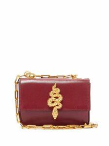 Valentino Garavani - Maison Snake Leather Shoulder Bag - Womens - Burgundy