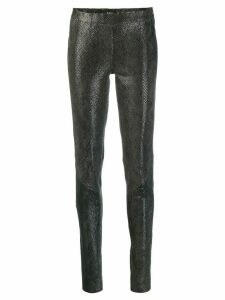 Arma snakeskin effect skinny trousers - Grey