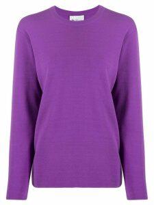 be blumarine box-fit sweatshirt - PURPLE