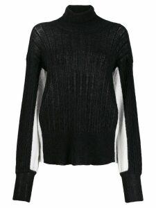 Maison Flaneur colour block jumper - Black