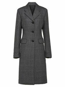 Prada single-breasted mid-length coat - Grey