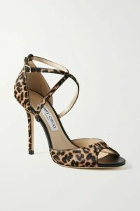 Jimmy Choo - Emsy 100 Leopard-print Calf Hair Sandals - Leopard print