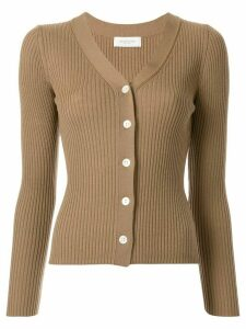 Tomorrowland ribbed knit cardigan - Brown