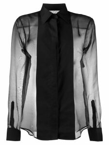 Helmut Lang sheer tux shirt - Black