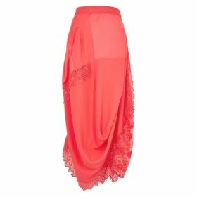HIGH Enliven Coral Lace-panelled Skirt