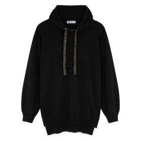 Johnstons Of Elgin Lilla Black Cashmere-blend Jumper