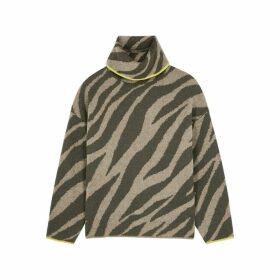 Rag & Bone Kiki Zebra-intarsia Knitted Jumper