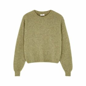 American Vintage Fogwood Green Wool-blend Jumper