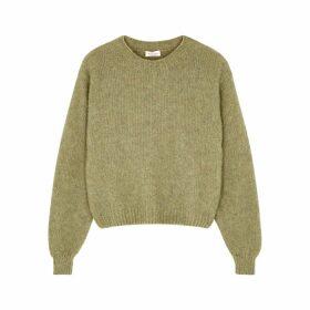 American Vintage Fogwood Green Wool-blend Jumper