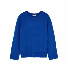 BY MALENE BIRGER Alvia Blue Merino Wool-blend Jumper