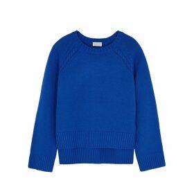 BY MALENE BIRGER Alvia Blue Merino Wool-blend Jumper