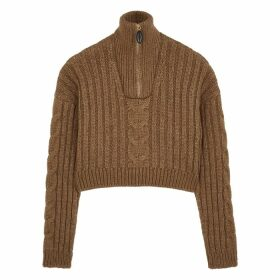 Nanushka Eria Brown Alpaca-blend Jumper