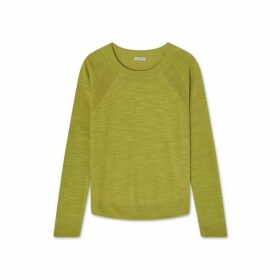 Jigsaw Linen Cotton Scoop Hem Jumper
