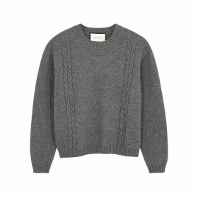 Gucci Grey Mélange Knitted Jumper