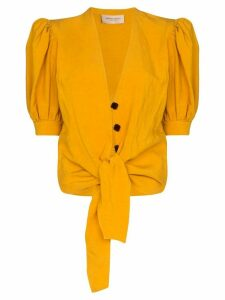 Adriana Degreas knot front blouse - Yellow