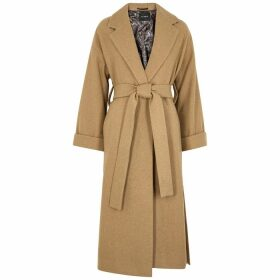Palones Camel Belted Wool-blend Coat