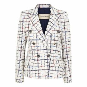 Alexandre Vauthier White Checked Tweed Jacket