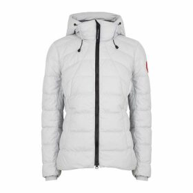 Canada Goose Abbott Light Grey Quilted Shell Jacket