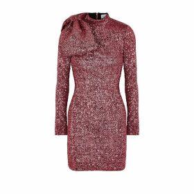 Rebecca Vallance Mona Pink Sequin Mini Dress