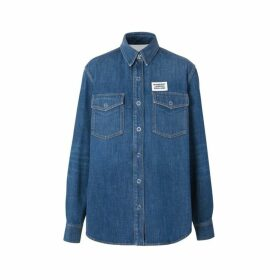 Burberry Logo Applique Denim Shirt
