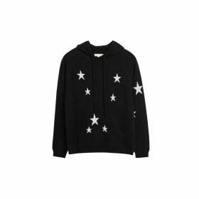 Chinti & Parker Black Cashmere Star Hoodie