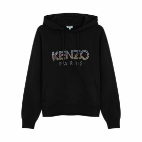 Kenzo Logo-embellished Hooded Cotton Sweatshirt
