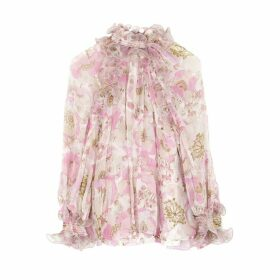 Zimmermann Super Eight Floral-print Chiffon Blouse