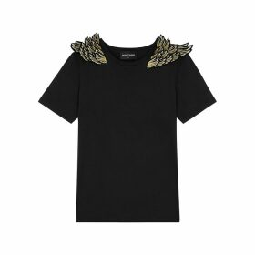 RAGYARD Wing-appliquéd Cotton T-shirt