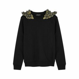 RAGYARD Wing-appliquéd Cotton-blend Sweatshirt