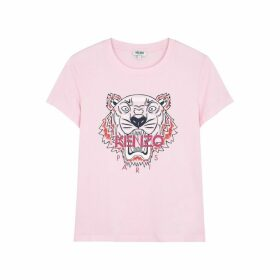 Kenzo Pink Tiger-print Cotton T-shirt